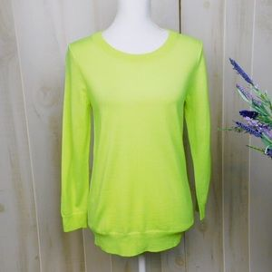 NWT J. Crew Lime Green Lightweight Sweater
